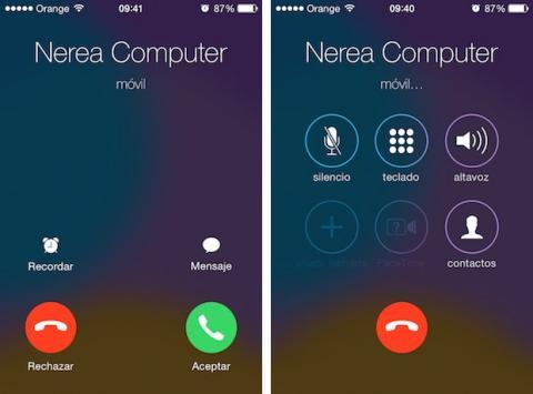 App teléfono iOS 7.1