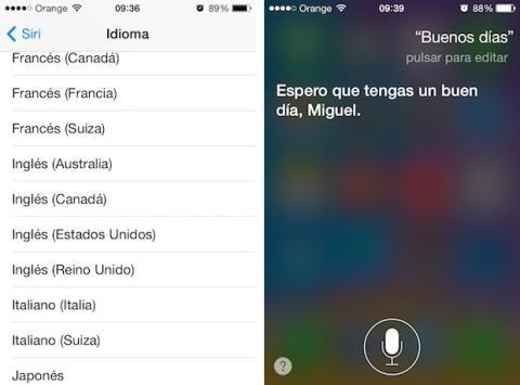 Siri en iOS 7.1