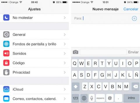 Los cambios de iOS 7.1 en los ajustes y el teclado