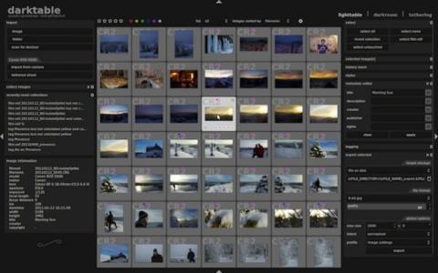 Darktablet también sirve para catalogar y gestionar tu biblioteca de imágenes