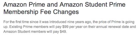 Amazon Prime aumenta su precio en 20 dólares a partir de abril