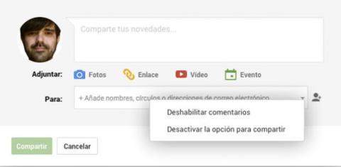Comparte actualizaciones solo con quien quieras Google+