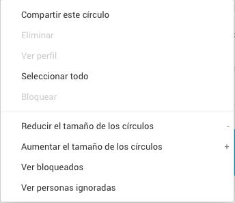 Compartir círculos Google+
