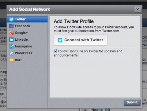 Añadir red social Hootsuite