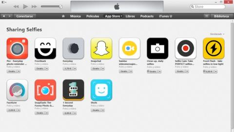 La App Store de USA estrena sección de apps de selfies, llamada Sharing Selfies