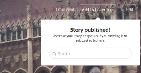 Envía tu historia a varias colecciones de Medium