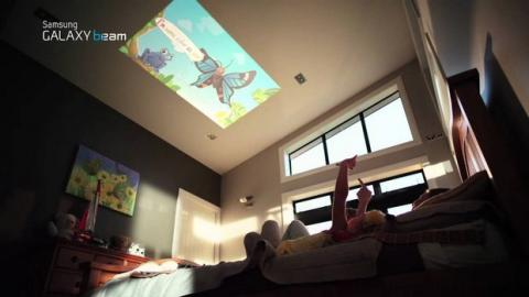 Samsun Galaxy Beam smartphone con proyector