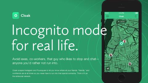 Cloak, la app para iPhone que te permite evitar a tus amigos