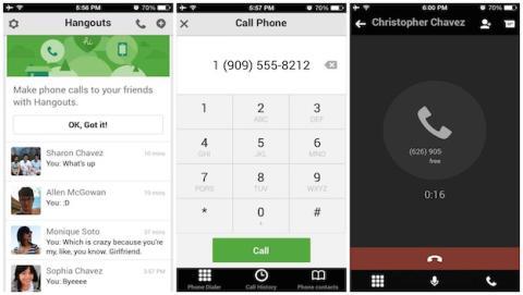 Una actualización previa para iOS introducía Voice en Hangouts