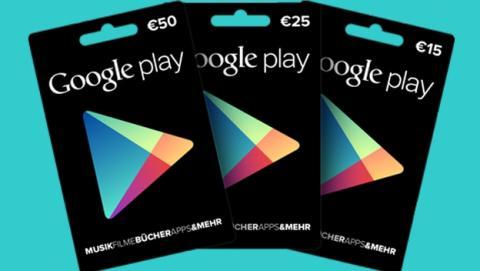 Tarjetas regalo de Google Play, ya a la venta en España