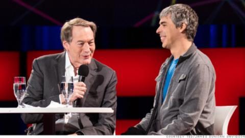 Larry Page, CEO de Google, Elon Musk