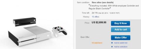 Xbox blanca en Ebay americano