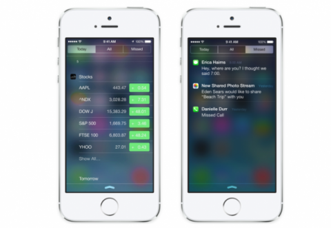 Centro de notificaciones en iOS 8