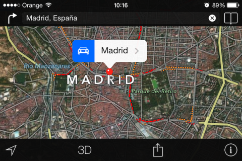 mapas de apple en iOS 8