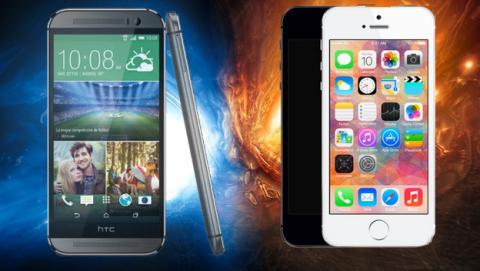Nuevo HTC One M8 VS iPhone 5S, descubre qué móvil es mejor