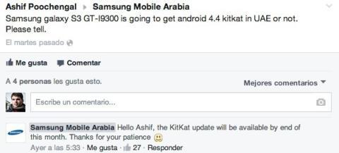 Samsung Galaxy S3 actualización