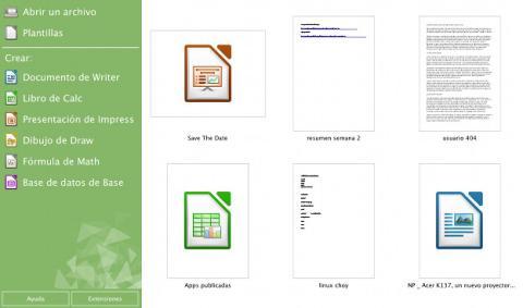 LibreOffice es una suite ofimática formada por seis aplicaciones