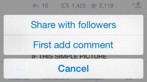 Twitter pruega botón de compartir en vez de retweet