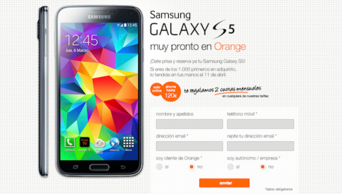 Samsung Galaxy S5 disponible en preventa con Orange