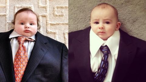 La última moda en Instagram: bebés con trajes de adulto