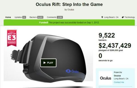 Oculus Rift KickStarter