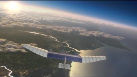 Drone de Facebook alimentado por energía solar que llevará Internet a los países pobres.