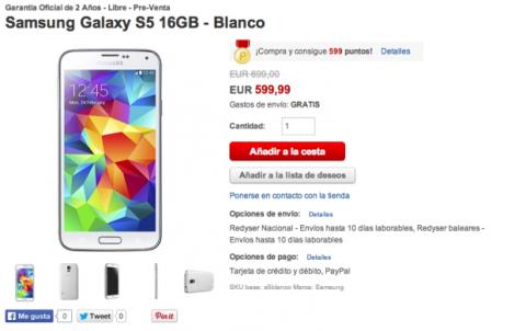 mejor precio para galaxy s5