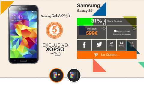 Comprar Samsung Galaxy S5 por 100 euros menos