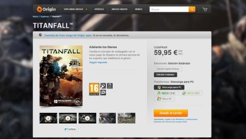 Origin, la tienda de juegos online de EA, deja de vender juegos en disco para PC y Mac.