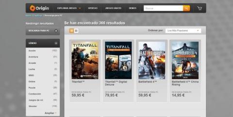 Origin deja de vender juegos en disco