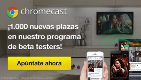 Wuaki.tv ofrece 1000 nuevas plazas de beta tester de Chromecast