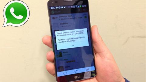WhatsApp será gratis para  Android hasta 2015