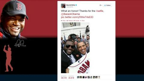 Selfie Samsung Barack Obama y David Ortiz