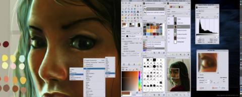 Además de retocar fotografías, GIMP permite crear y modificar imágenes