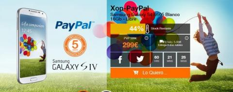 Samsung Galxy S4 a 299€ en Xopso PayPal