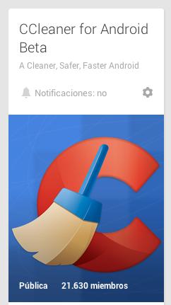 CCleaner Google Plus