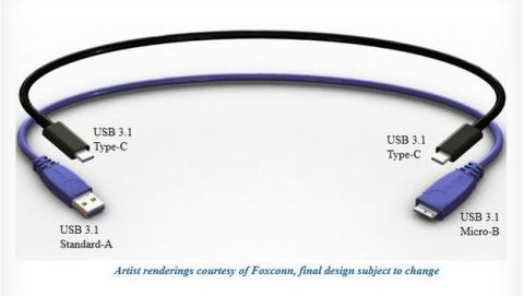 Primeras imágenes del cable y conector USB 3.1 reversible