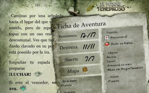 Librojuego para iOS y Android El Bosque Tenebroso
