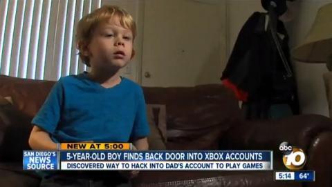 Niño de 5 años hackea la cuenta Xbox Live de su padre para jugar a sus juegos