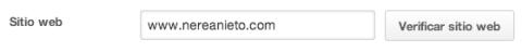 Verificar sitio web Pinterest