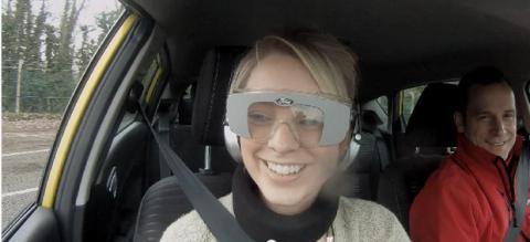 Conducir con un simulador de borrachera