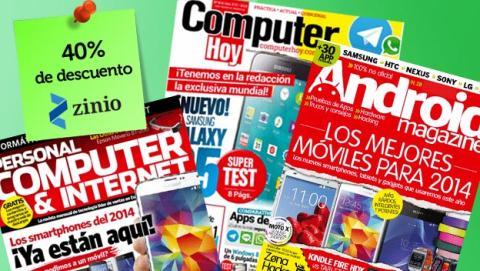 Tus revistas favoritas un 40% más baratas, ¡Aprovéchalo!