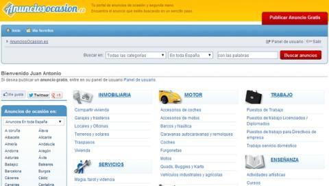 AnunciosOcasion, la alternativa española a eBay en venta de segunda mano y anuncios de ocasión.