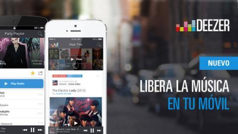 El nuevo Deezer permite escuchar música gratis en el móvil