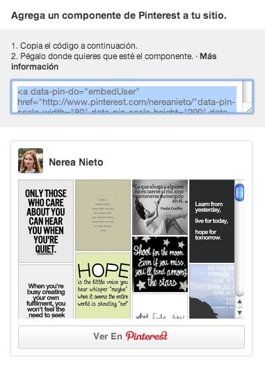 Agregar componente de Pinterest a tu sitio web