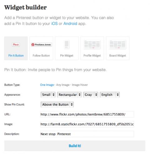 Widgets en Pinterest