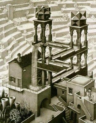 Cascada, de M.C. Escher