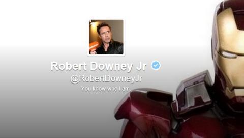 Robert Downey Jr, el mismísimo Ironman, acaba de estrenarse en Twitter. En 23 horas ha conseguido un millón de seguidores.