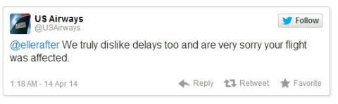 Queja aerolínea en Twitter, con imagen porno