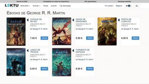 Lektu ebooks de Juego de Tronos en exclusiva, sin DRM